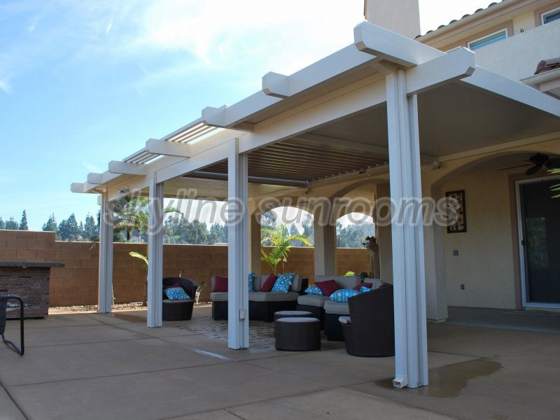 solid patio covers gallery skyline