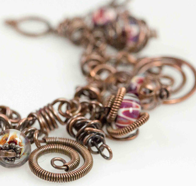 Wire Wrapped Charm Bracelet