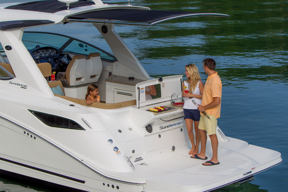 sea ray 350 sundancer with SureShade