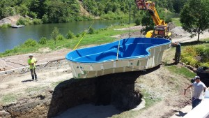 New fiberglass pool