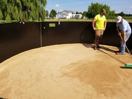 Round above ground pool