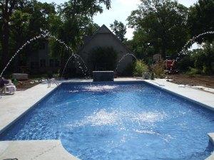 vinyl pool with deck jets in Joplin, MO