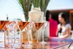 An array of delicious summer cocktails expertly mixed onboard