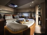 The master cabin is stylishly designed