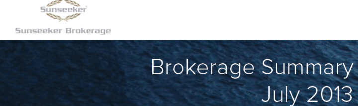 Sunseeker Brokerage publishes strongest boat and yacht sales yet for July 2013
