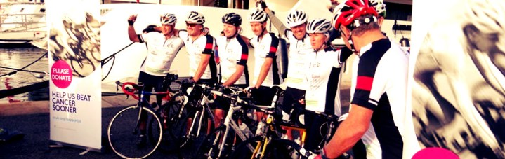 Sunseeker Superyacht Management support incredible Cogs4Cancer sponsored cycle from Antibes to Palma