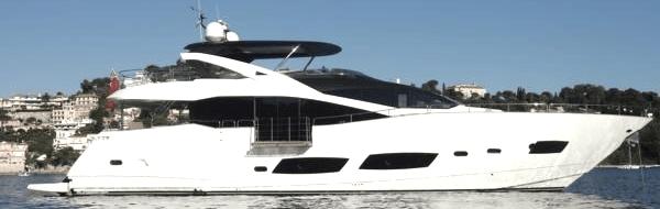 """Sunseeker 28 Metre Yacht """"NO 9"""" sold by Sunseeker London"""