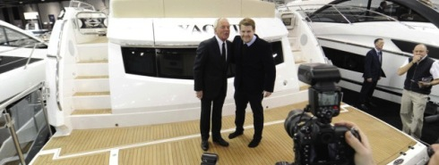James Corden launches Sunseeker 75 Yacht in style at London Boat Show