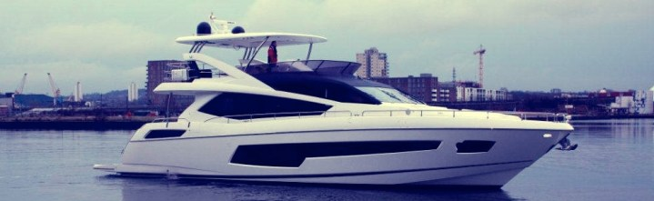 Ruling the waves: all-new Sunseeker 75 Yacht makes her way to London Boat Show