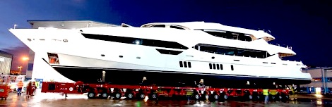 New flagship 155 Yacht unveiled at Sunseeker International shipyard