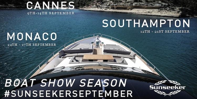 What? Where? When? Sunseeker line up revealed for September Boat Show Season