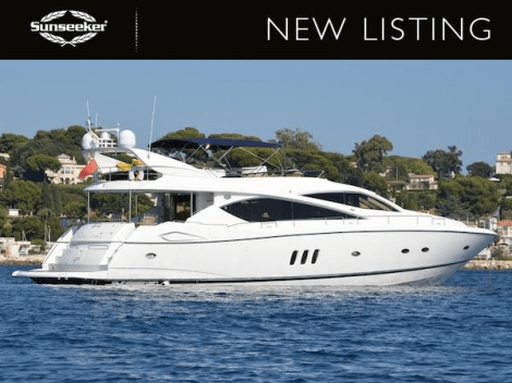 """Sunseeker Poole has listed the 2004 Sunseeker 75 Yacht """"SOMETHING DIFFERENT"""" for sale"""