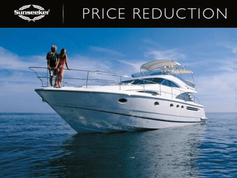 "Sunseeker Southampton have announced a price reduction of the Fairline Squadron 58 ""CHILDSPLAY"""