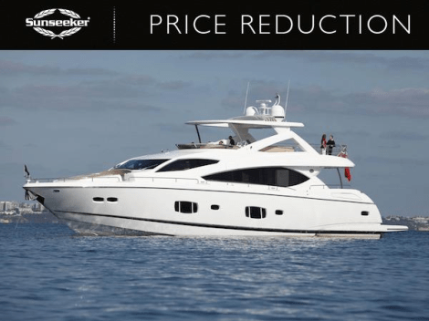 """Sunseeker Turkey have announced a major price reduction for the 2010 88 Yacht """"X CRISTAL X"""" now asking €2,500,000"""