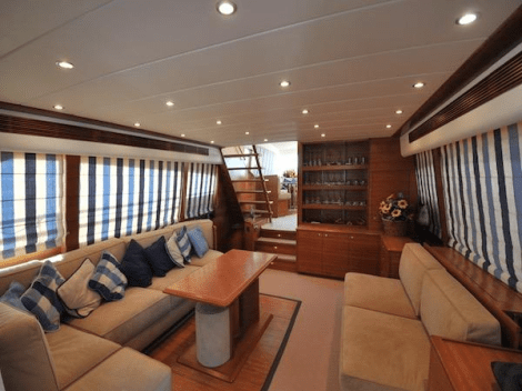 """Sunseeker Cannes list 2005 Guy Couach 2200 """"MARPAT"""" at €990,000 Tax Paid"""