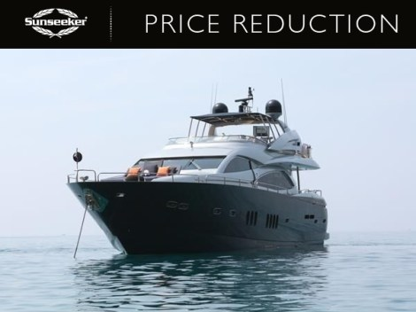 "Sunseeker Poole have reduced the Sunseeker 90 Yacht ""DEVOTION"" to £1,999,000 ex VAT"