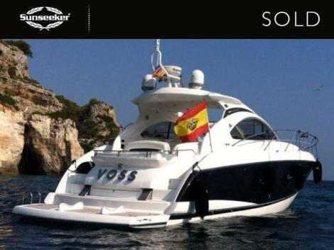 """Sunseeker Mallorca have confirmed the sale, completion and delivery of the 2007 Sunseeker Portofino 47 """"VOSS"""""""