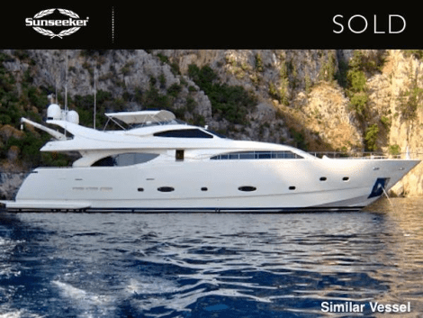 "The Sunseeker Mallorca sales team announced the sale of the Ferretti Customline 94 ""ESPIRITU DE DULCIE"" earlier this month"