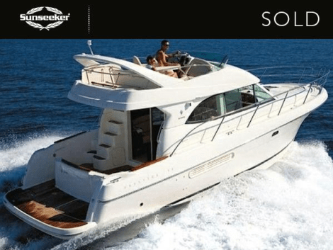 """The Jeanneau Prestige 36 """"GRANDSLAM"""" was sold by Sunseeker Cheshire after successful sea trials in Pwllheli, North Wales"""