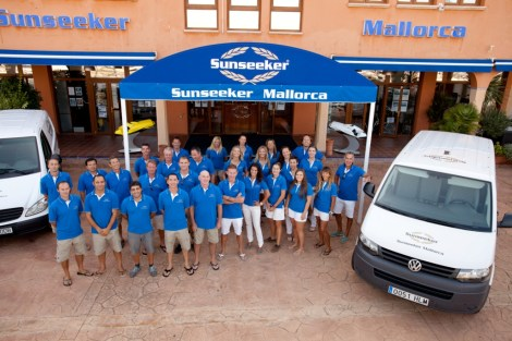 The Sunseeker Mallorca team, pictured here in Port Adriano, are recruiting a Warranty Coordinator/Engineer in Puerto Portals