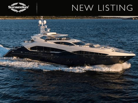 "Sunseeker Poole is delighted to announce the listing of the Sunseeker 130 Sport Yacht ""NEVER SAY NEVER"", asking €10,000,000 ex Tax"