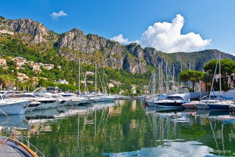 Berth for sale with Sunseeker France in the stunning marina of Beaulieu-sur-Mer, Port de Plaisance. Photo: Capvera