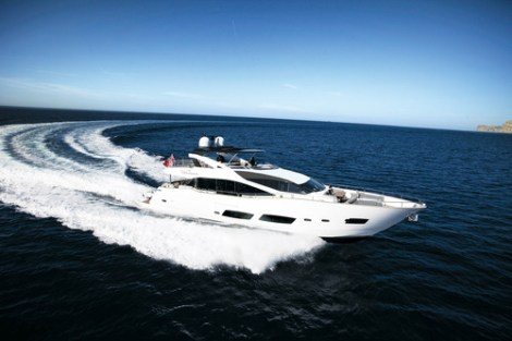 """The Sunseeker 28 Metre Yacht """"AUTUMN"""" is the largest ever Sunseeker yacht to appear at the Palma show"""