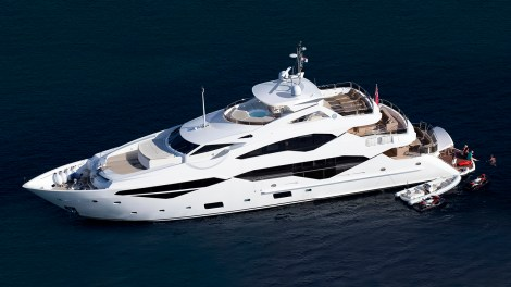 Exclusive CGi images of the newly announced Sunseeker 131 Yacht have been released