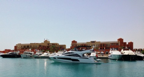 """CHERRY"" will join a number of Sunseeker yachts berthed in the Red Sea marina of El Gouna"