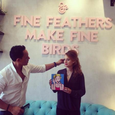 Made In Chelsea TV star Rosie Fortescue enjoys a fabulous 'Duck Dry & Do' treatment