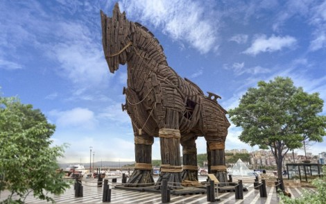 In Western Turkey, the Trojan horses rest today