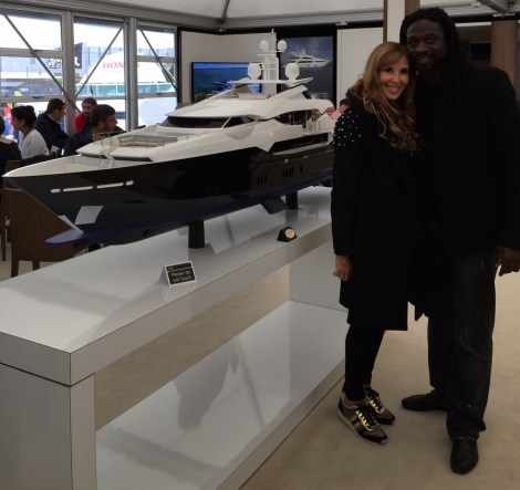Paul Sackey visited the stand today and is seen here with Alexis Lewis, Chair Lady of the Caudwell Children Committee