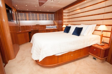 8 guests sleep in 4 perfectly appointed and luxurious cabins