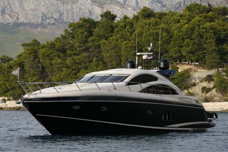 The Predator 62, built in 2008, is a fine open yacht with 2 MAN engines 1100 V10, 3 cabins and full of extras, making excellent choice for our client's preferences