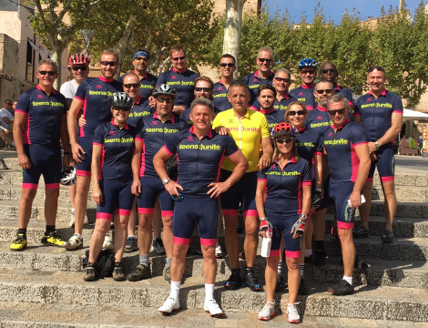 Sunseeker London support the Teens Unite Couch Classic Cycle in Mallorca