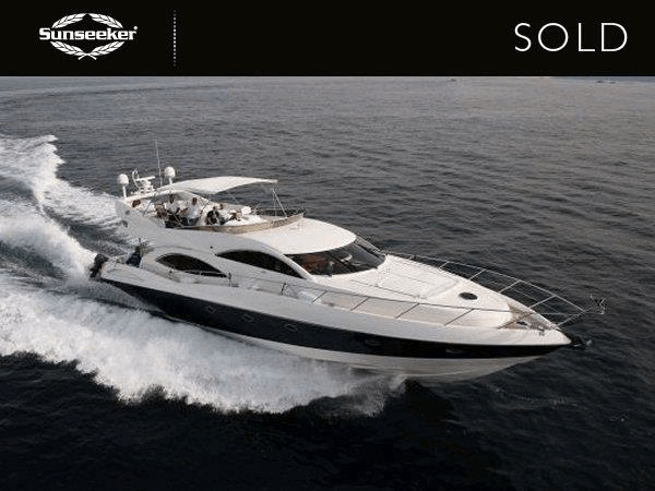 Sale of Manhattan 74 FERTUNA sold by Tom Benson, Sunseeker France