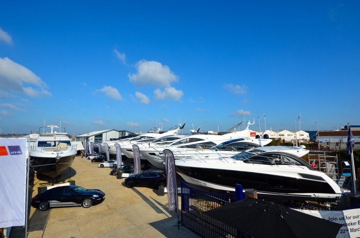 PRE- SEASON BOAT SHOW AT SUNSEEKER POOLE