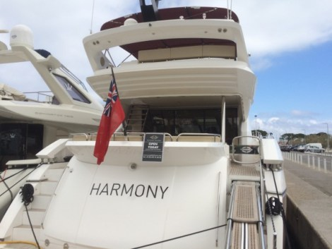 The team of brokers of the Sunseeker France Group will be showcasing the exclusive Sunseeker 80 Sport Yacht 'HARMONY'