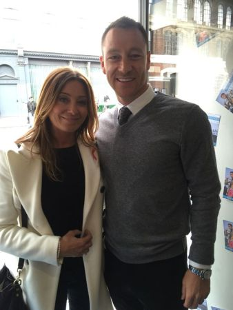 Victoria Gerlis with John Terry
