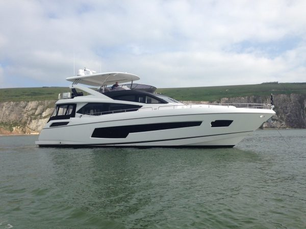 Sunseeker Southampton announce the successful completion and delivery of a brand new Sunseeker 75 Yacht to the UK South Coast