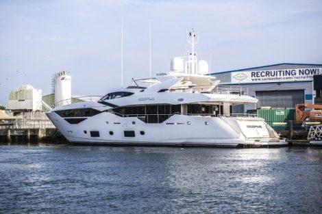 Les postulants retenus seront basés au siège de Sunseeker Poole et rejoindront les équipes qui construisent des unités telles que le très novateur Yacht 116 ci-dessus