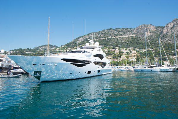 SPOTTED: The Sunseeker 131 Yacht Jacozami in Port de Beaulieu Marina