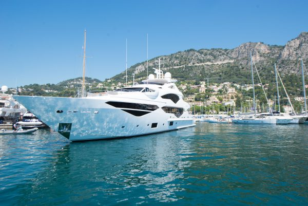 SPOTTED: The Sunseeker 131 Yacht Jacozami in Port de Beaulieu Marina