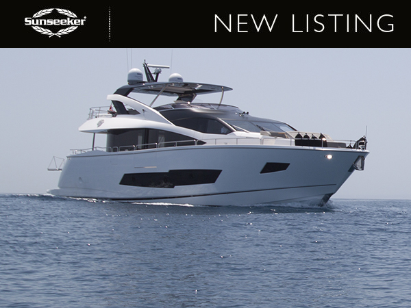 New Listing: Sunseeker 86 Yacht, 'ROAMING SPUR' – £3,895,000 TAX PAID