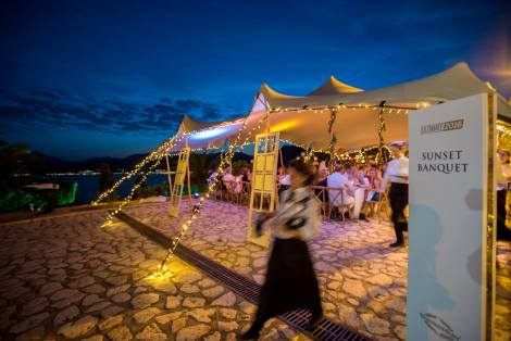 A beautiful set-up underneath the stars awaited the attending guests for the nights' spectacular gala dinner