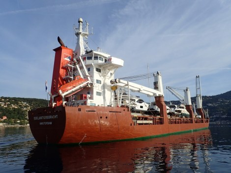 The ship had travelled all the way from the ship yard in Poole to be in the Mediterranean