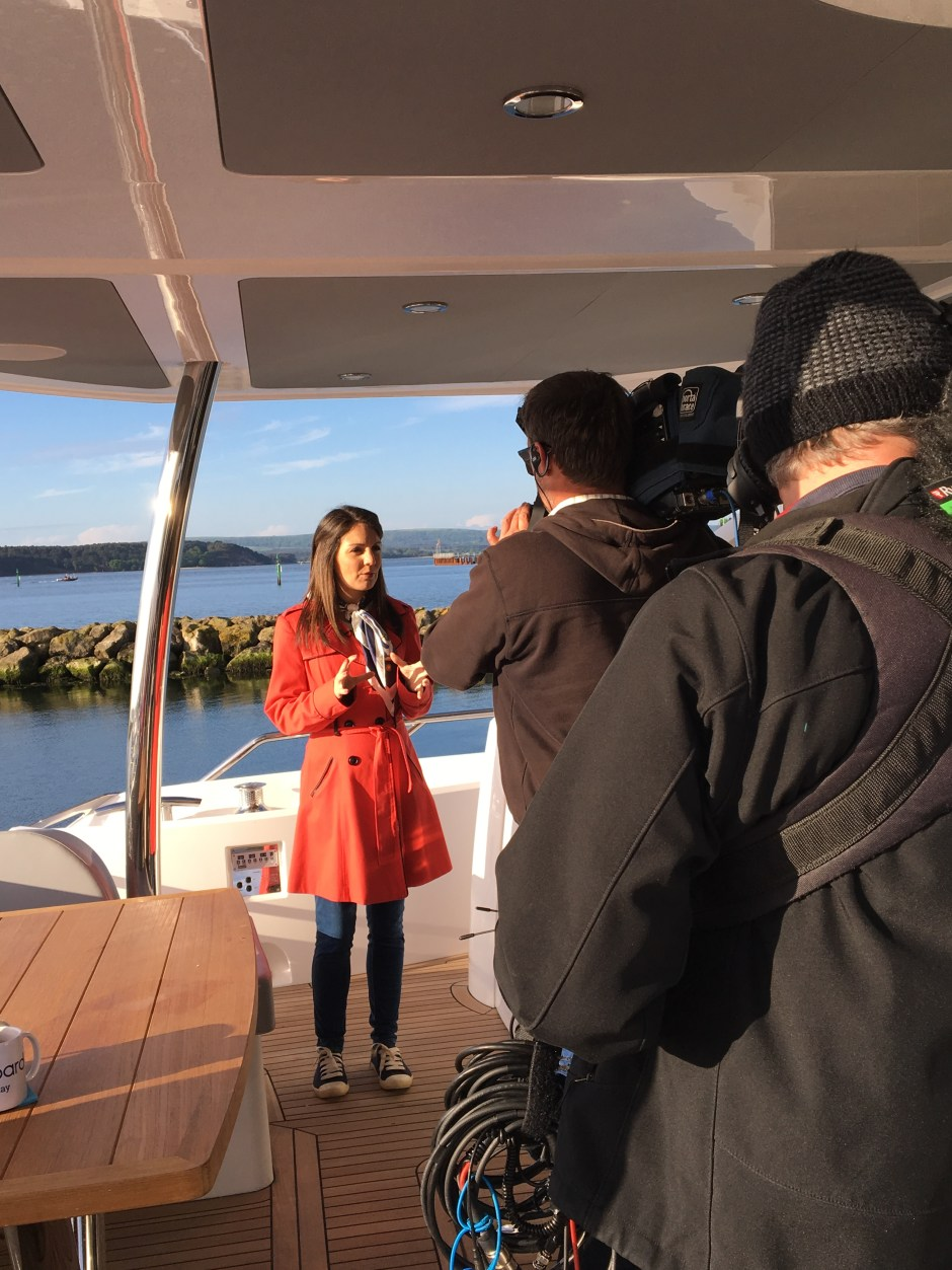 BOAT SHOW: Sunseeker Poole feature on ITV's Good Morning Britain at Poole Boat Show