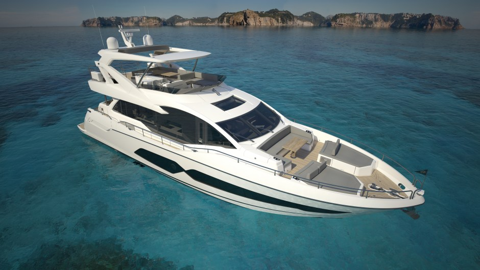 WORLD DEBUT: SUNSEEKER LONDON GROUP ARE PROUD TO ANNOUNCE THE DEBUT OF THE NEW 76 YACHT AT THE SOUTHAMPTON BOAT SHOW 2017