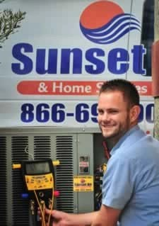 Air Conditioning Installation Tech Ryan - Fort Myers Florida - Sunset Air and Home Services - 239-693-9005 - 225 x 319