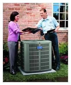 AC Technician and Customers - Premium Air Conditioning Maintenance Agreement - Fort Myers FL - Sunset Air and Home Services - 39-693-9005 - 245 x 292